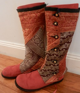 Spats-recycled sari silk, 2012