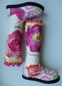 Child's side zip boot. Designed by Izabella L-H. Date completed 20131002.
